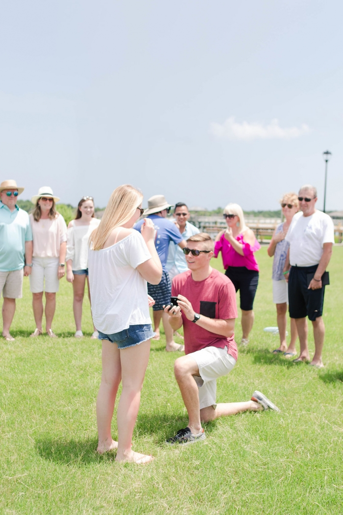 Alexa's Proposal in Inlet Watch Yacht Club