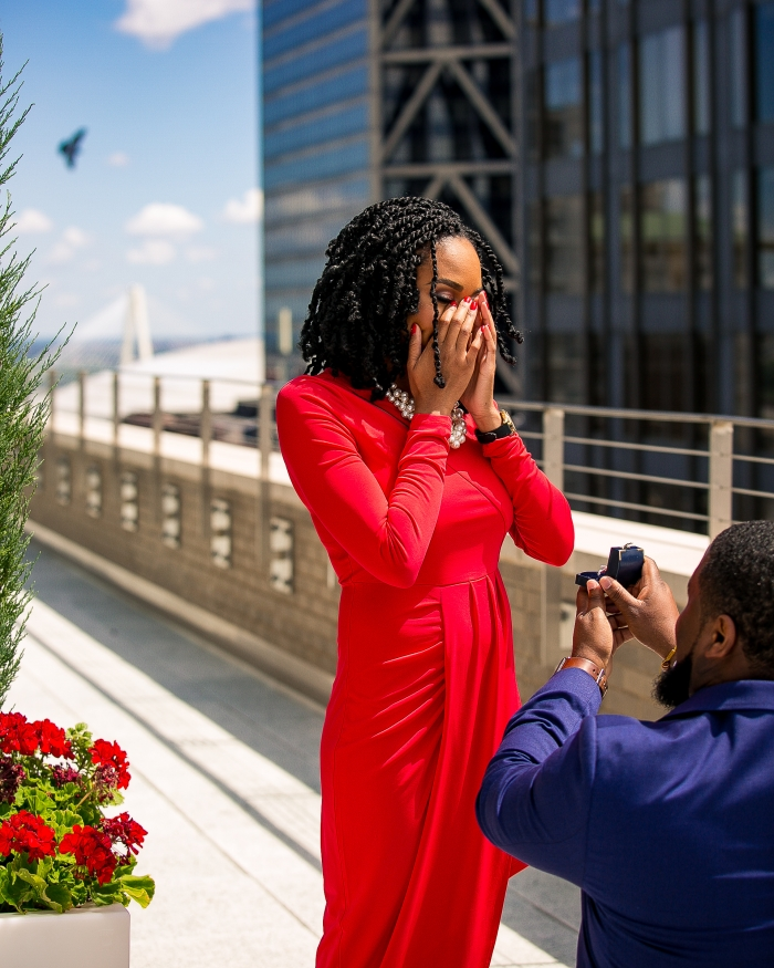 Wedding Proposal Ideas in On the Rooftop of Arcade Loft Apartments, in St. Louis, MO