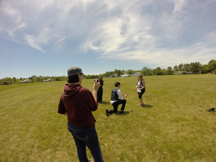 Kaitlynn's Proposal in Skydive Barnstable