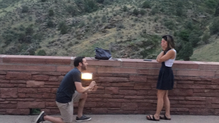 Wedding Proposal Ideas in Red Rocks - Colorado! We came to see our favorite musician perform!