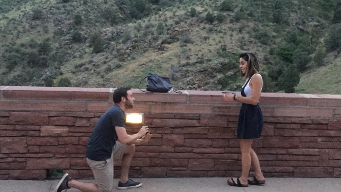 Where to Propose in Red Rocks - Colorado! We came to see our favorite musician perform!