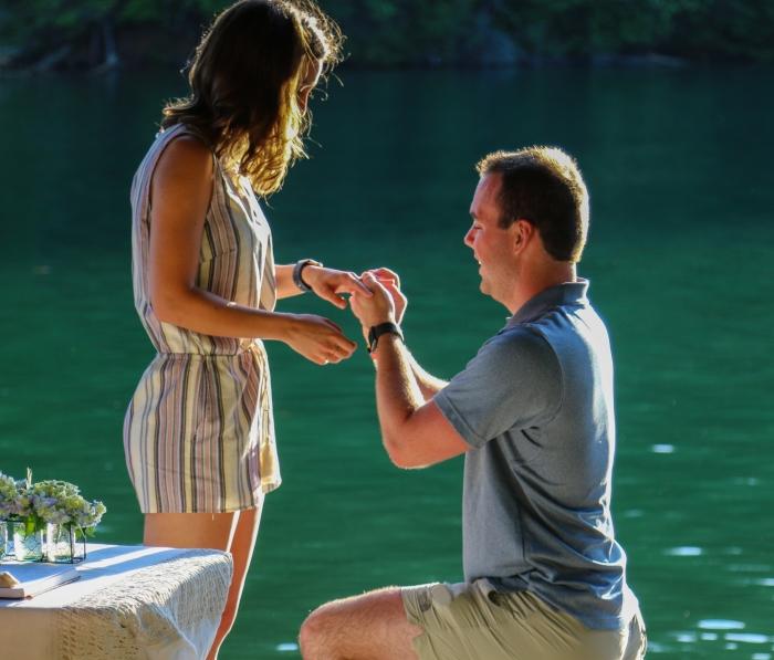 Kara and Adam's Engagement in Blue Ridge, GA