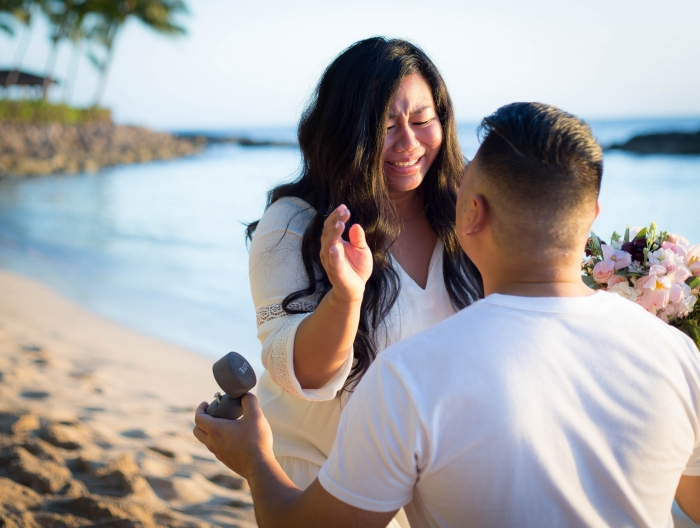 Stacey's Proposal in Lanikuhonua, HI