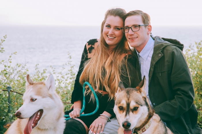Alexandra and Justin's Engagement in crystal cove CA
