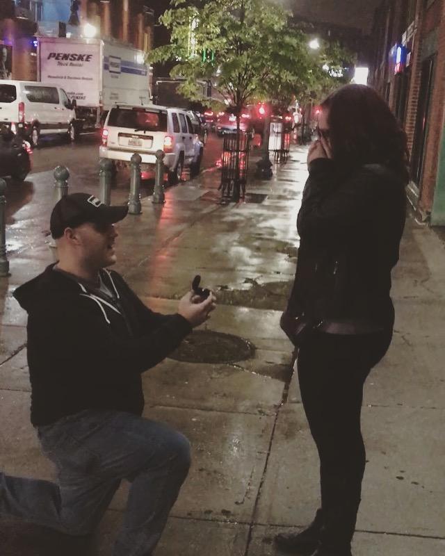 Wedding Proposal Ideas in Boston - outside House of Blues / Fenway Park