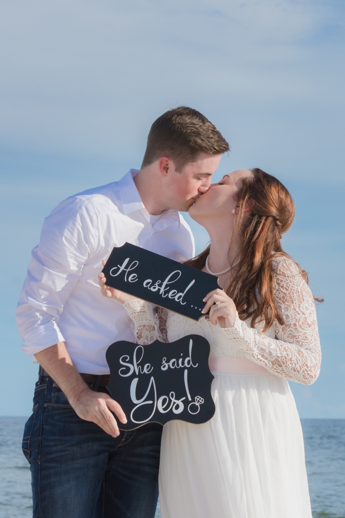 Krystine and Mason's Engagement in St. George Island, Florida