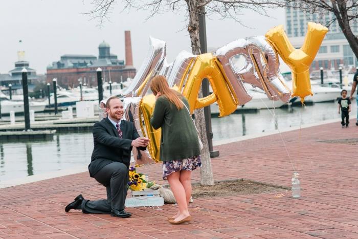 Megan's Proposal in Baltimore, Maryland