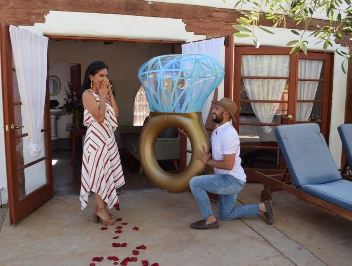 Laura's Proposal in Korakia Pensione, Palm Springs