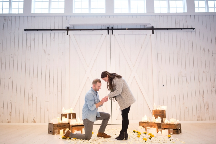 Hunter's Proposal in The White Sparrow Barn