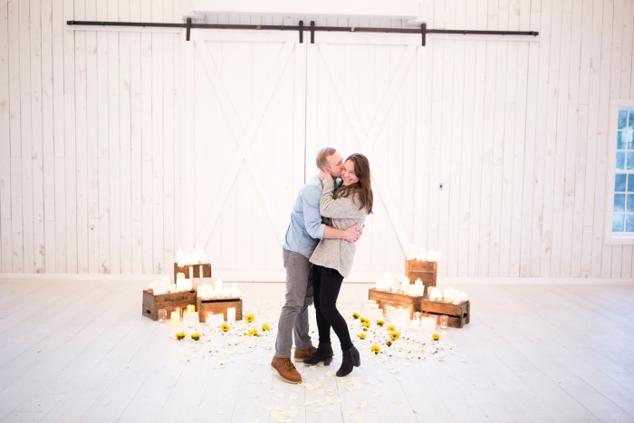 Engagement Proposal Ideas in The White Sparrow Barn