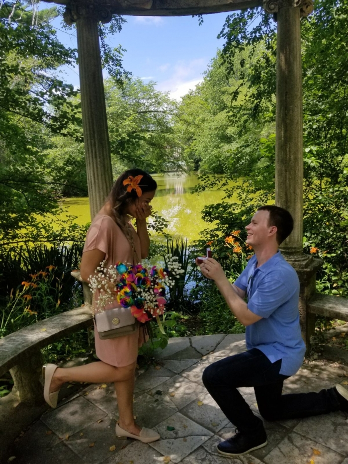 Engagement Proposal Ideas in Old Westbury Gardens