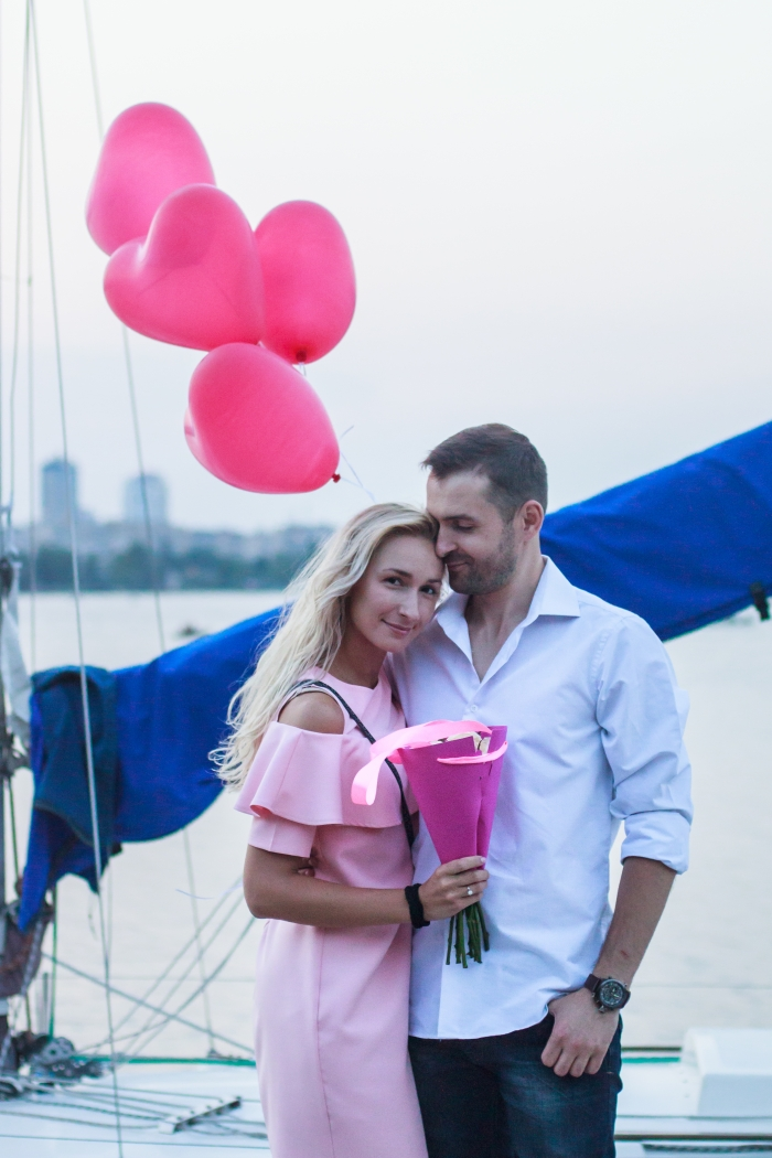 Wedding Proposal Ideas in Kiev, Dniper river, yacht