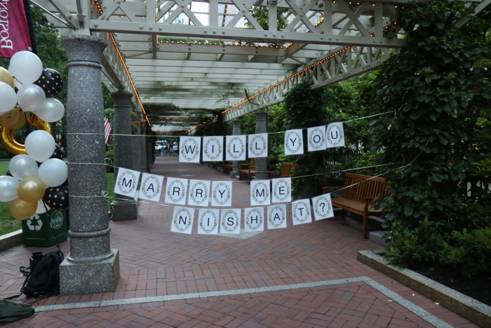 Wedding Proposal Ideas in Post Office Square, Boston MA