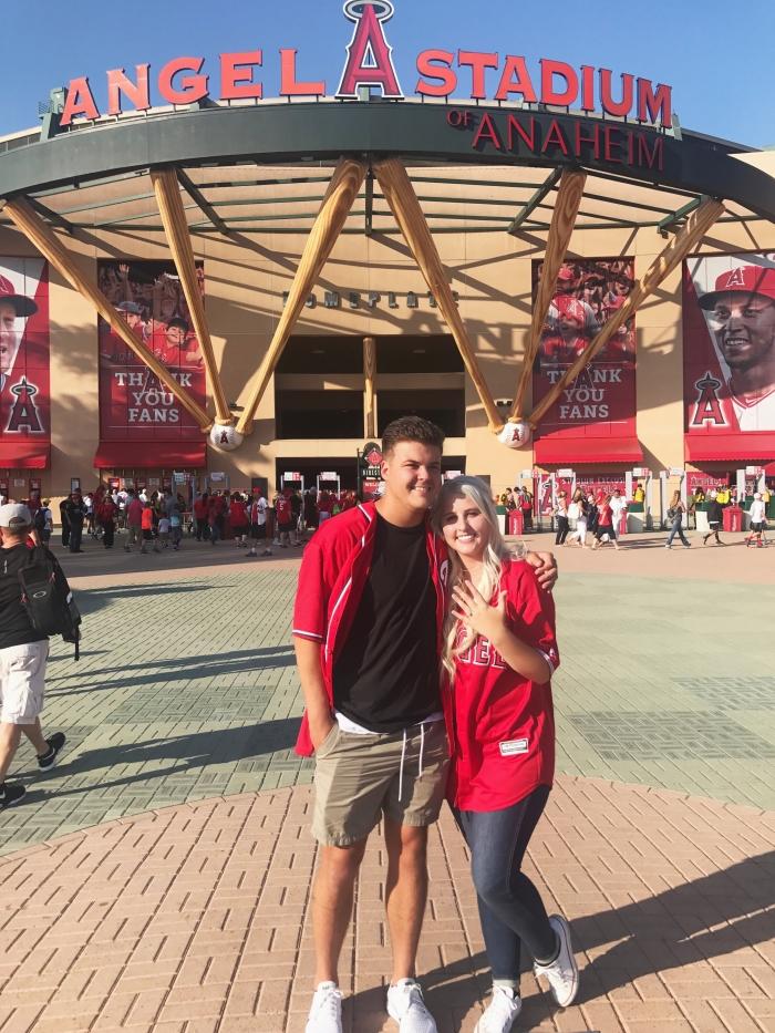Karissa and Wyatt's Engagement in Angel Stadium of Anaheim