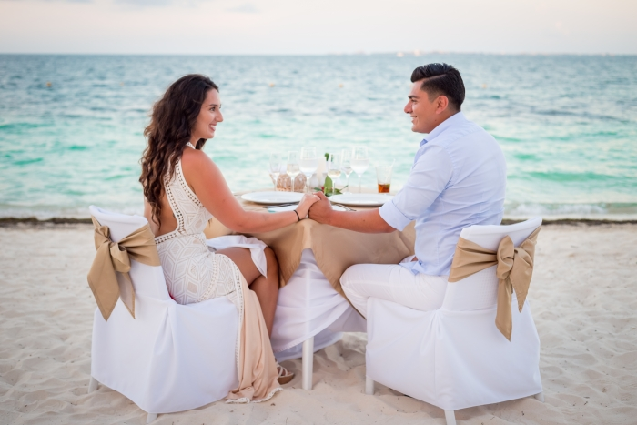 Christina's Proposal in Playa Mujeres, Mexico