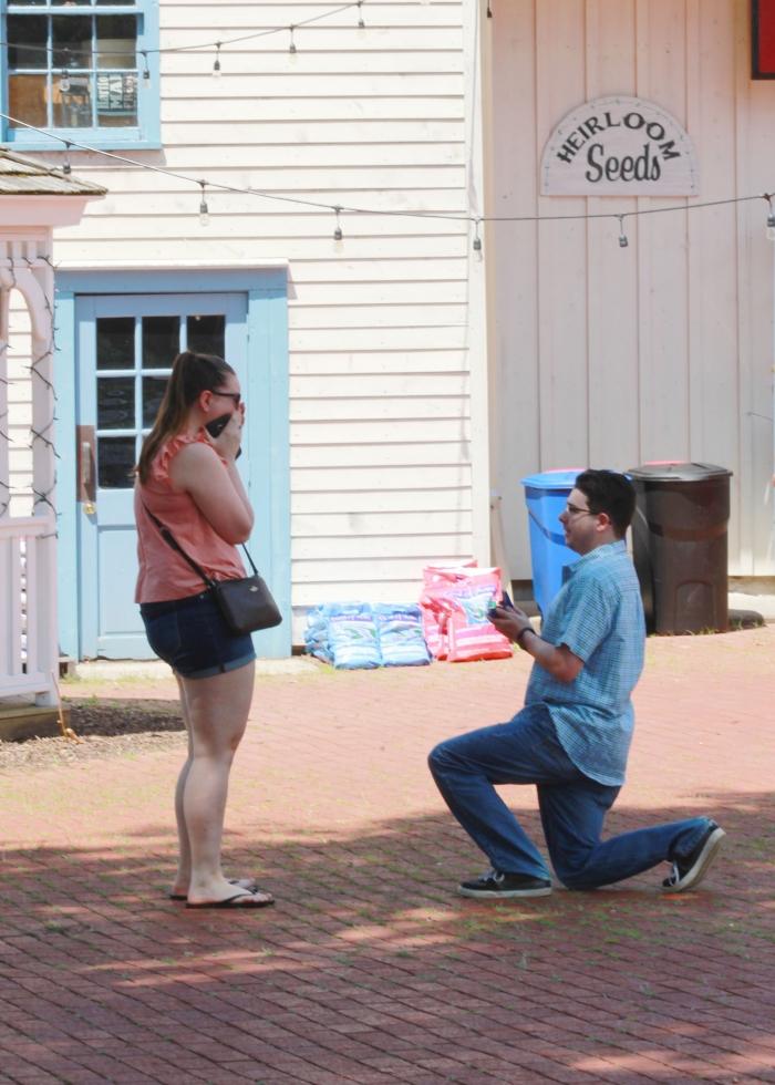 Marriage Proposal Ideas in Heirloom Market, Old Wethersfield, CT