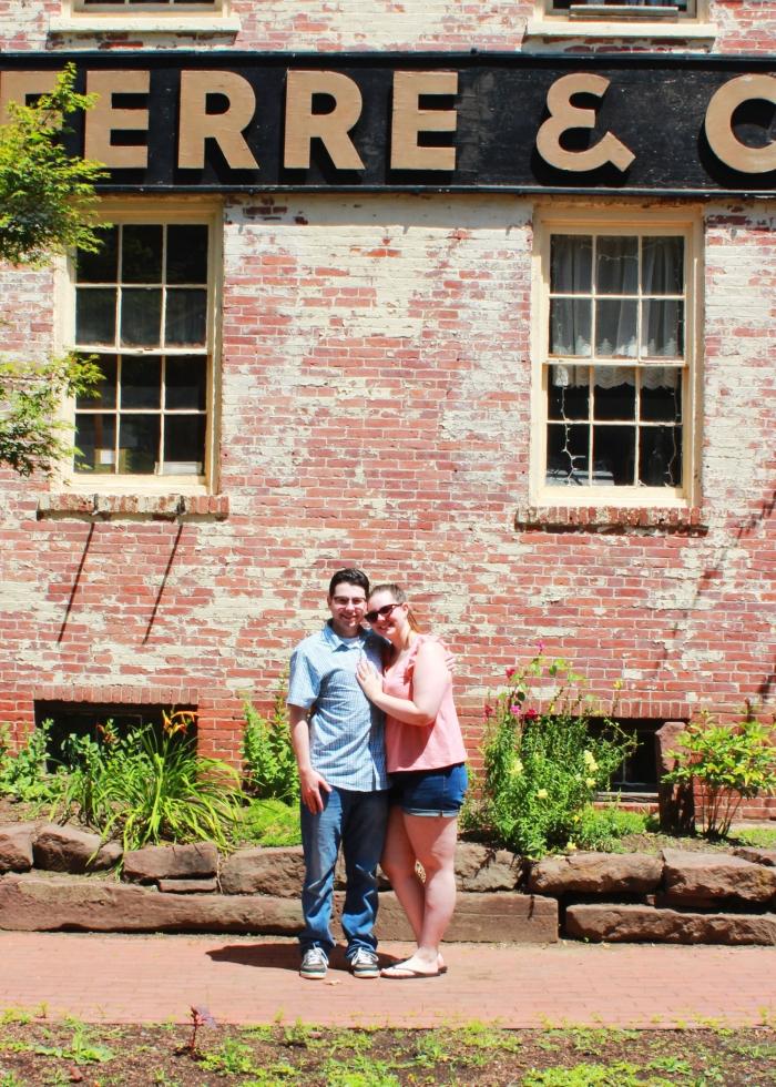 Katie and Erik's Engagement in Heirloom Market, Old Wethersfield, CT