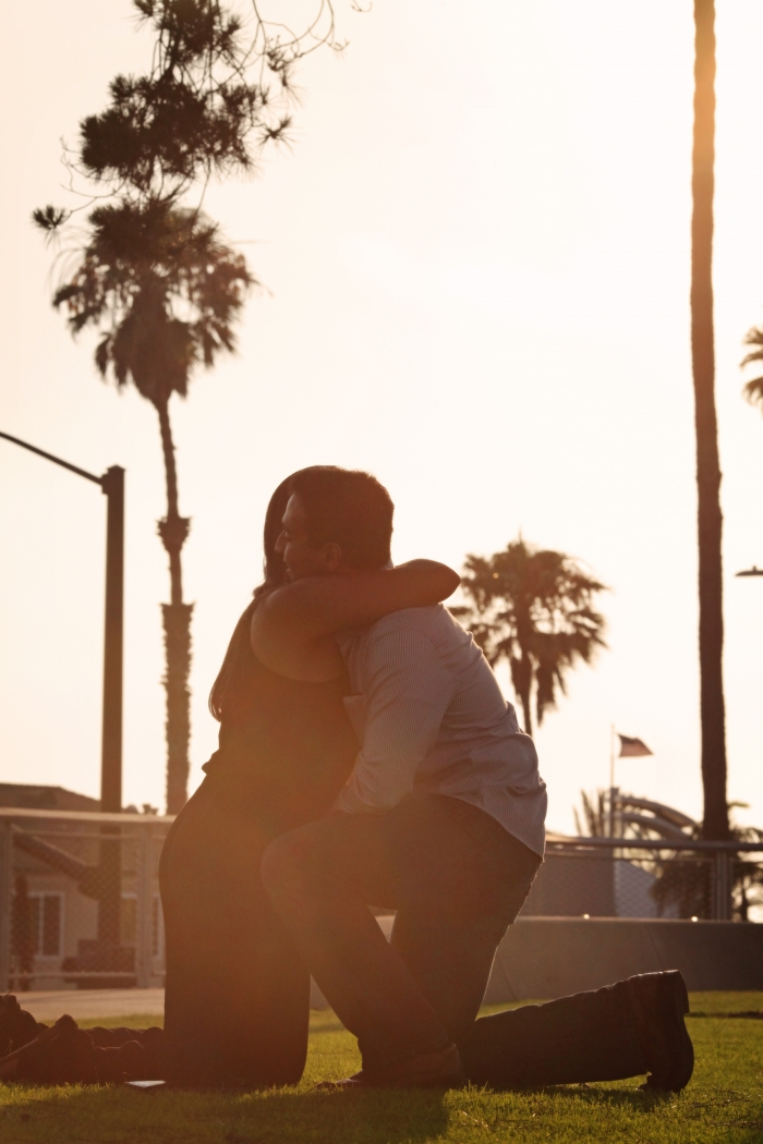 Henal and Kevin's Engagement in Tongva park, santa monica, CA