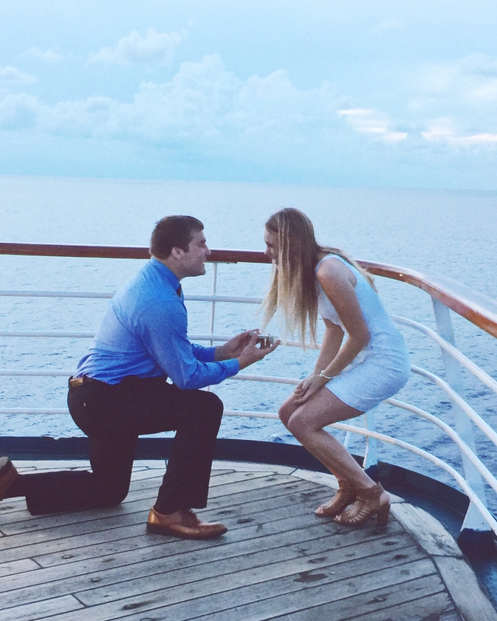 Proposal Ideas On the Carnival Sensation cruise ship, as we were sailing through the Gulf of Mexico