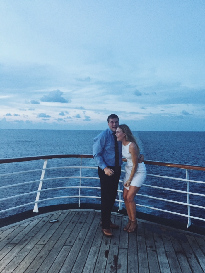 Kelly and Mark's Engagement in On the Carnival Sensation cruise ship, as we were sailing through the Gulf of Mexico