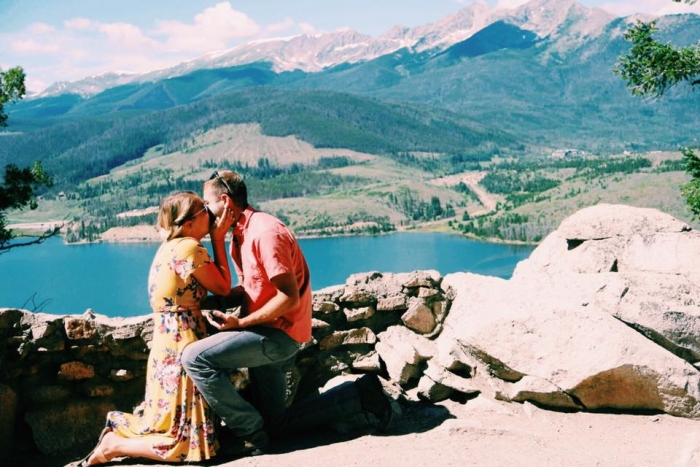 Camille and Stosh's Engagement in Sapphire Point Trail, Colorado