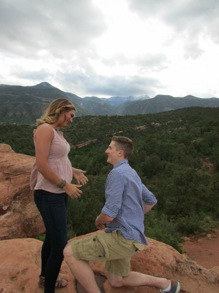 Engagement Proposal Ideas in Garden of the Gods in Coloraod