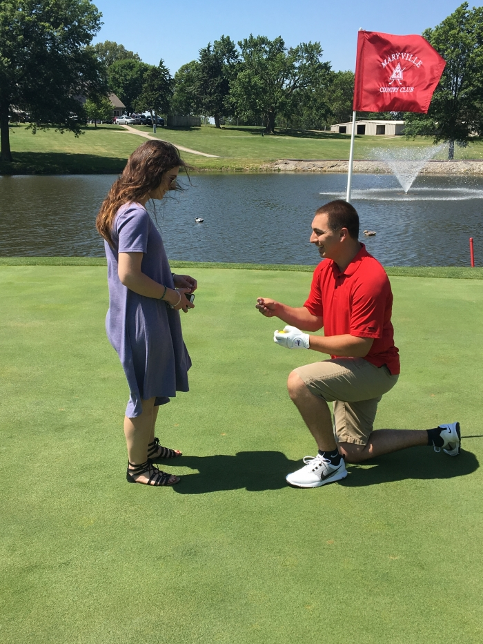 Engagement Proposal Ideas in Maryville Country Club