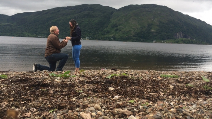 Emma's Proposal in Taynuilt, Scotland