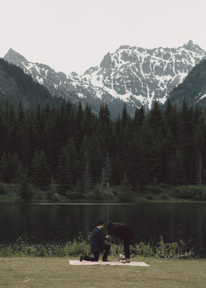 Engagement Proposal Ideas in Gold Creek Pond, Seattle