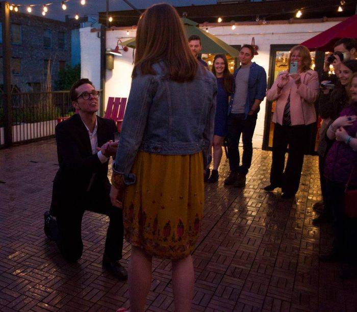 Engagement Proposal Ideas in Ample Hills in Gowanus Brooklyn NY