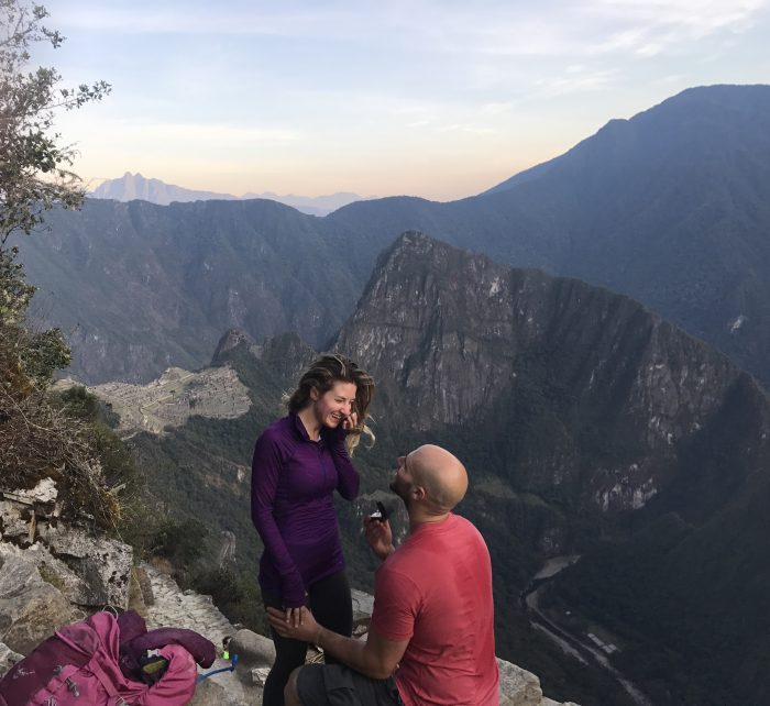 Marriage Proposal Ideas in Sun Gate overlooking Machu PIcchu