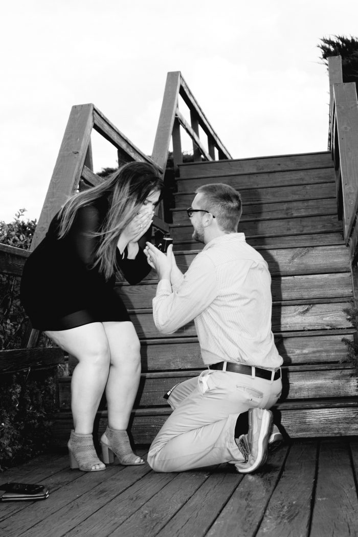 Alexis's Proposal in A cute place by the lake at sunset