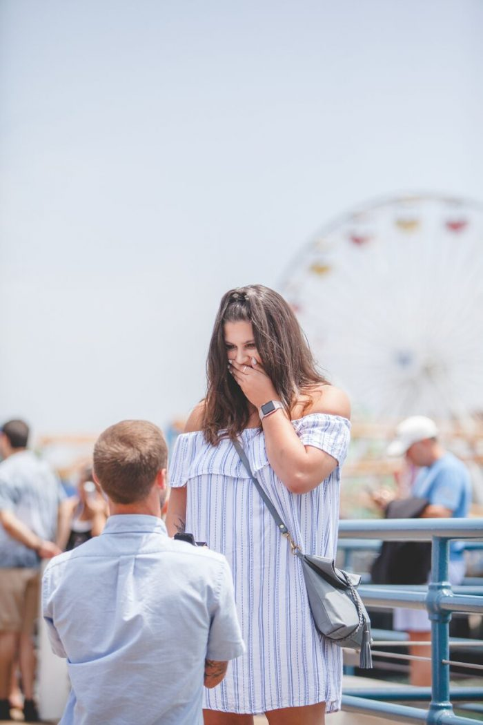 Marriage Proposal Ideas in Santa Monica Pier