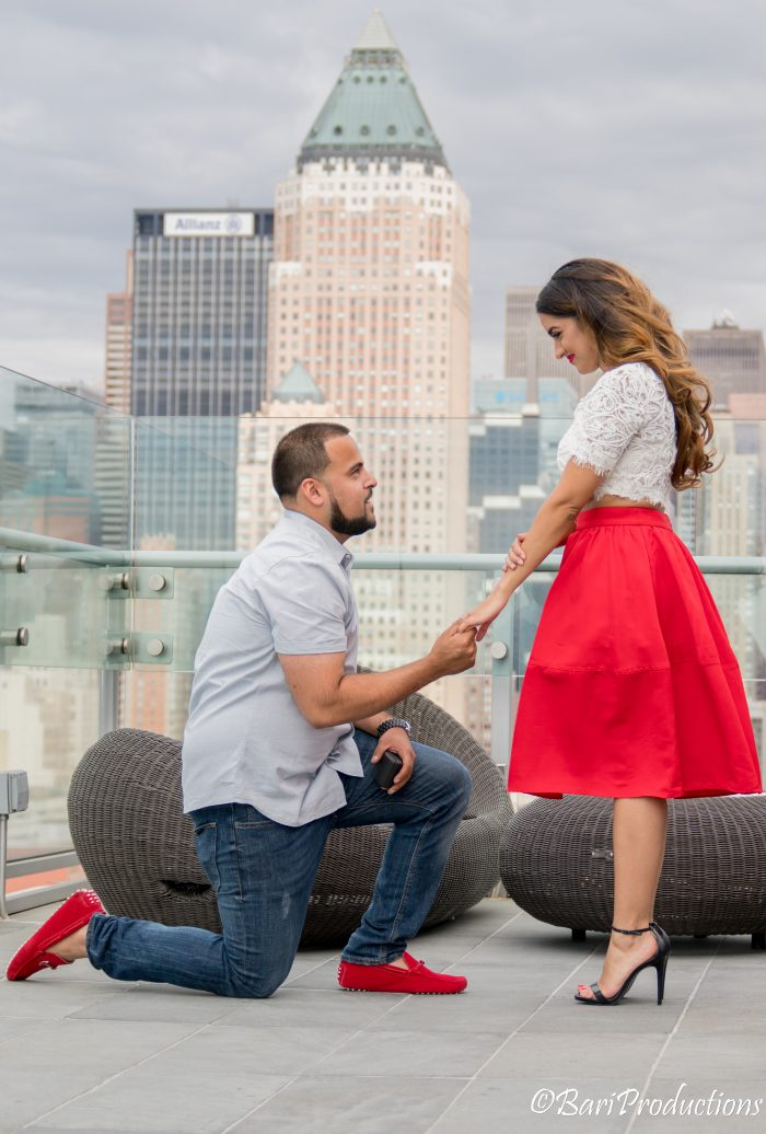 Akash's Proposal in Press Lounge at Kimpton Ink 48 hotel, New York City
