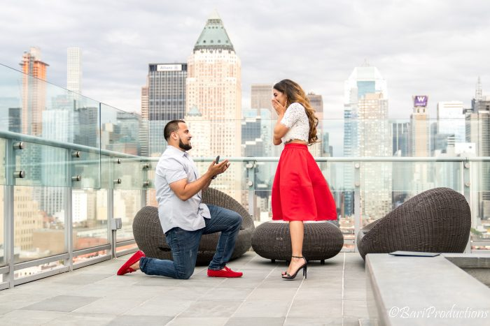Where to Propose in Press Lounge at Kimpton Ink 48 hotel, New York City