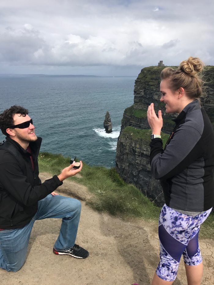 Emily's Proposal in Ireland at Cliffs of Moher
