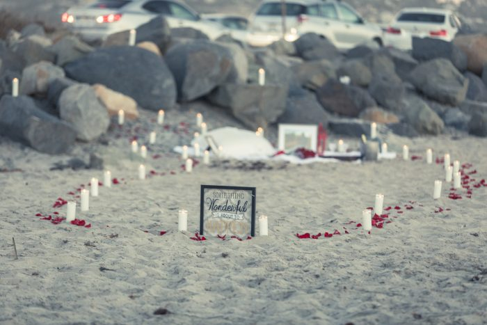 Where to Propose in Cardiff By The Sea Beach