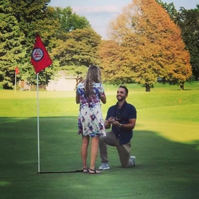 Where to Propose in Weibring Golf Club in Normal, IL