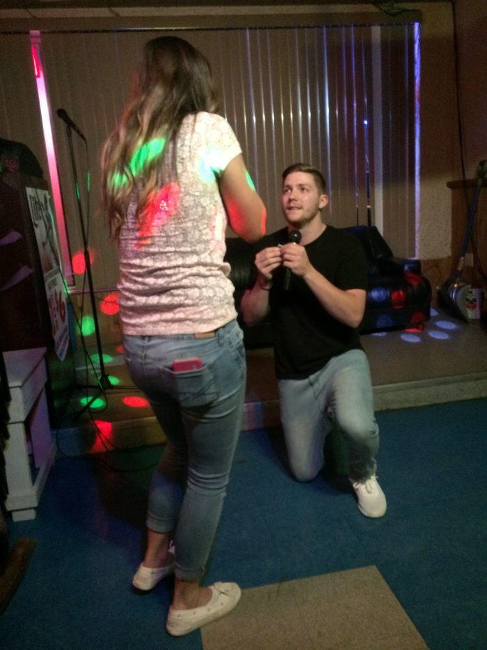 Wedding Proposal Ideas in Karaoke bar