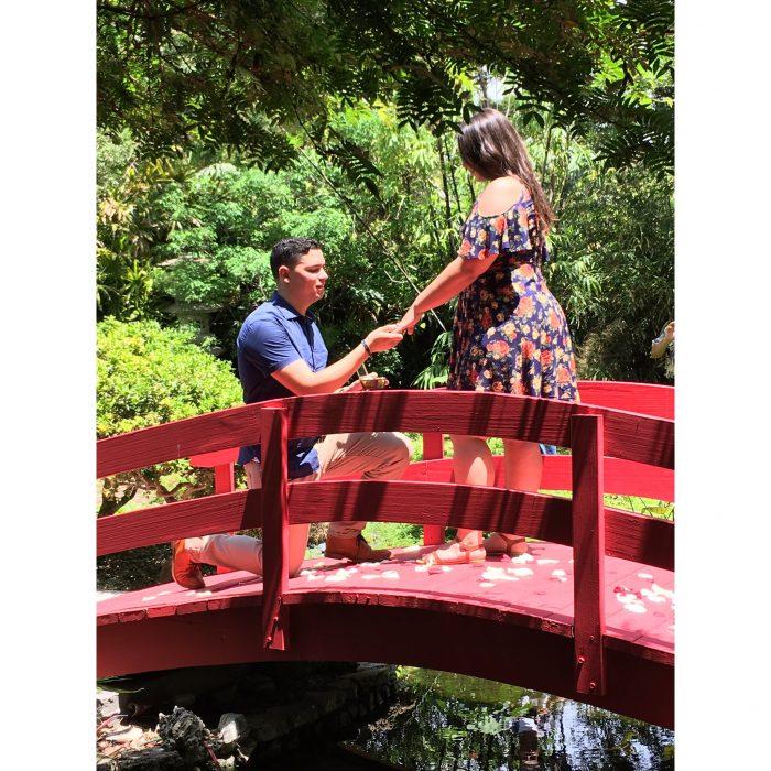 Keylen and Giovanni's Engagement in Miami Beach Botanical Garden