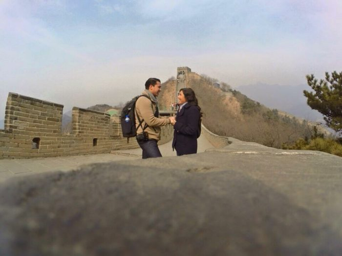 Michelle and Charles's Engagement in The Great Wall of China