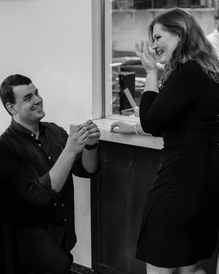 Where to Propose in Carlos Bakery, Times Square, New York City