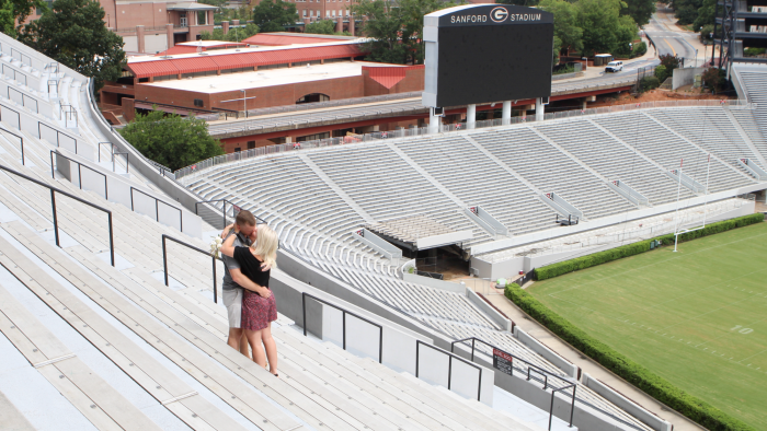 Where to Propose in Sanford Stadium; Athens, Ga