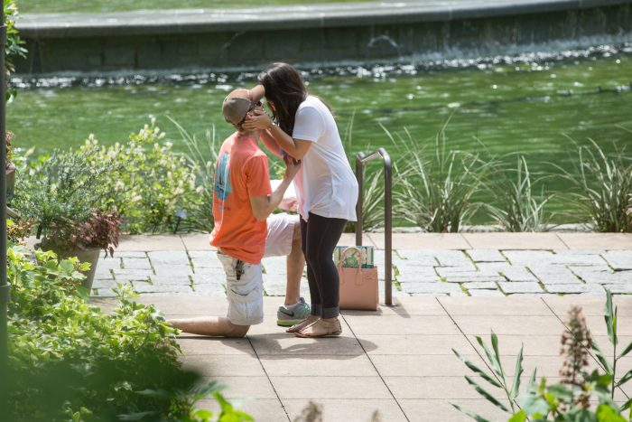 Kate and Tyler's Engagement in Atlanta Botanical Gardens