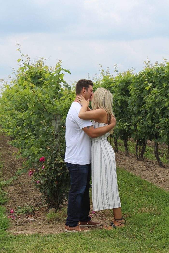 Lia's Proposal in Niagara on the lake, Peller Estate Winery