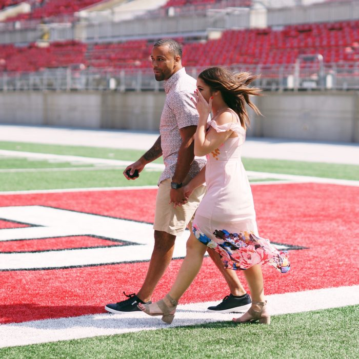 Where to Propose in The Ohio State Football Staduim (The Shoe)
