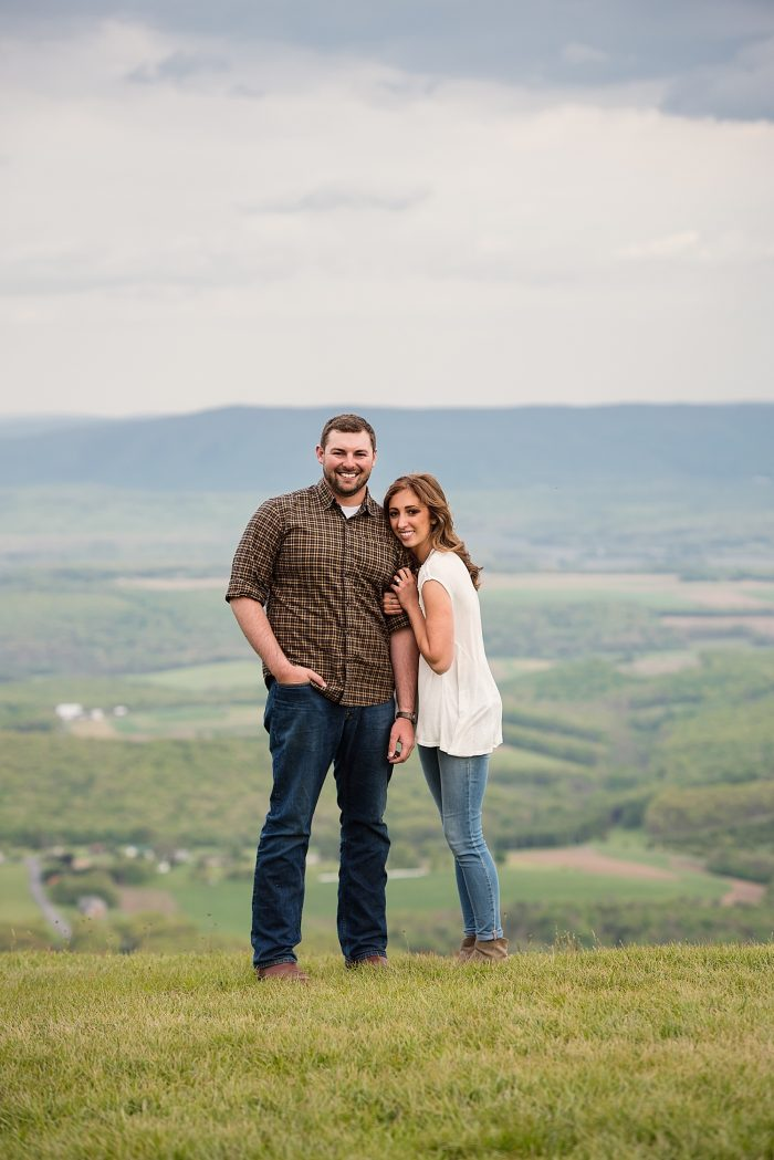 Megan and Nick's Engagement in Allegheny Front Hawk Watch, Schellsburg, PA
