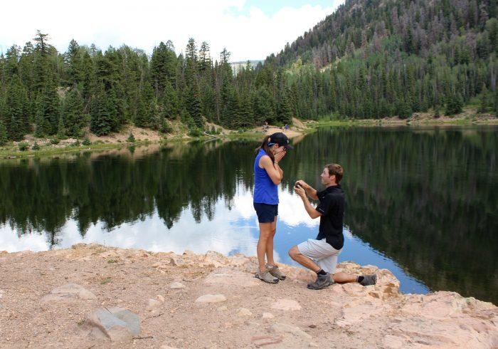 Courtney's Proposal in Durango, Colorado