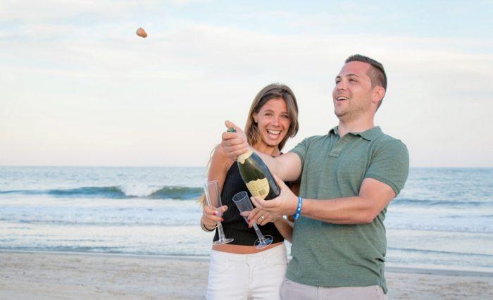 Samantha and Eric's Engagement in Brigantine Beach, New Jersey