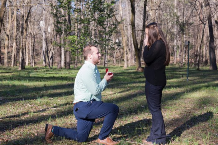 Allie and Nick's Engagement in A park